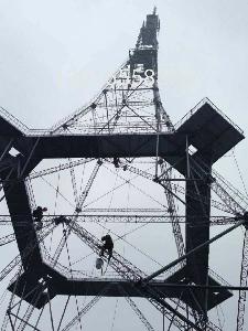 120米电视塔防腐